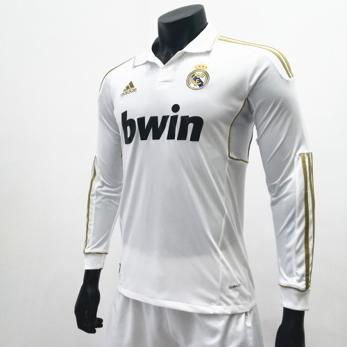Real Madrid 2011/2012 Home LS Retro Soccer Jerseys