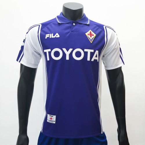 Fiorentina 1999/2000 Home Retro Soccer Jerseys