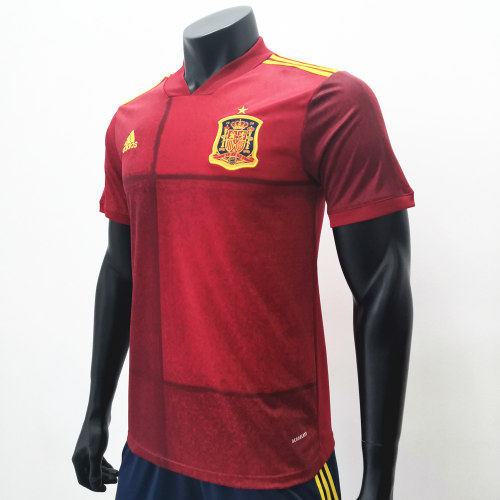 Thai Version Spain Euro 2020 Home Jersey by shootjerseys