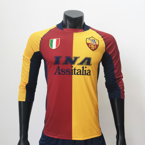 Roma 2001/2002 Home LS Retro Soccer Jerseys