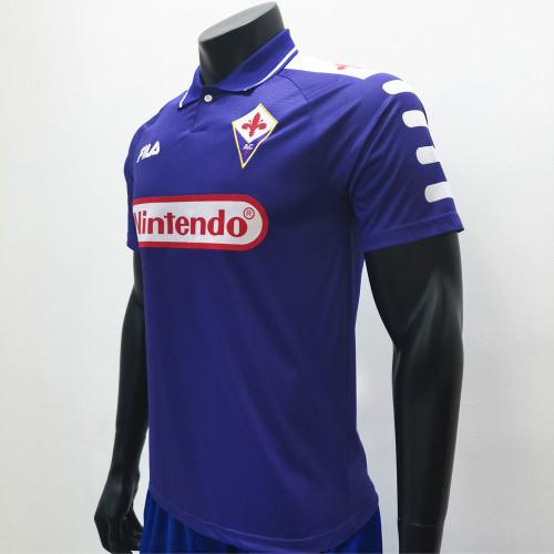 Fiorentina 1998/1999 Home Retro Soccer Jerseys