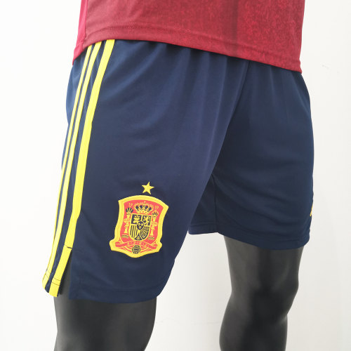 Thai Version Spain 2020 Home Soccer Shorts