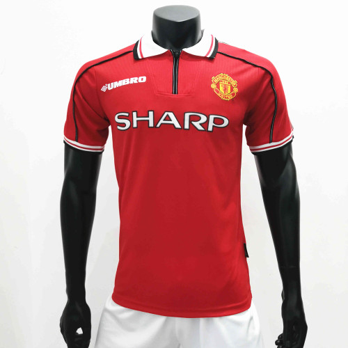Manchester United 1998/1999 Home Retro Soccer Jerseys