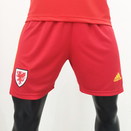 Thai Version Welsh 2020 Home Soccer Shorts