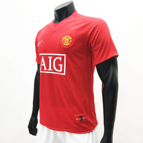 Manchester United 2007/2009 Home Retro Soccer Jerseys