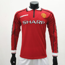 Manchester United 1998/1999 Home LS Retro Soccer Jerseys