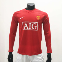 Manchester United 2007/2009 Home LS Retro Soccer Jerseys