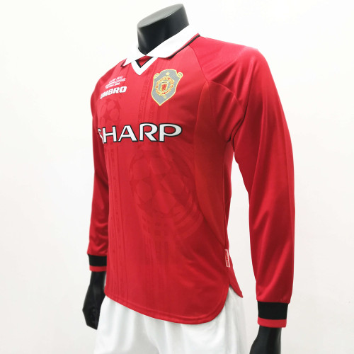 Manchester United 1999/2000 Home LS Retro Soccer Jerseys