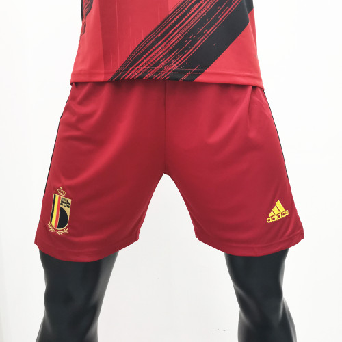 Thai Version Belgium 2020 Home Soccer Shorts