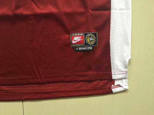Kobe Bryant 33 Lower Merion High School Red Basketball Jersey