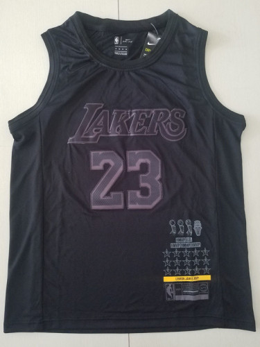 Los Angeles Lakers LeBron James MVP Black Basketball Jersey