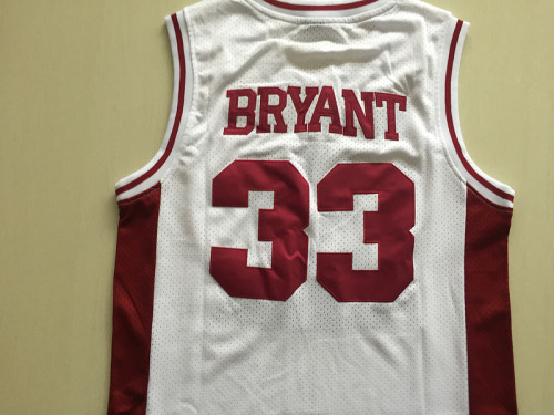 Kobe Bryant 33 Lower Merion High School White Basketball Jersey