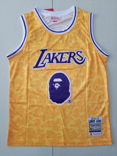 Los Angeles Lakers LeBron James Fashion Edition Basketball Jersey