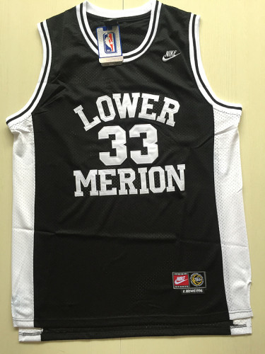 Kobe Bryant 33 Lower Merion High School Black Basketball Jersey