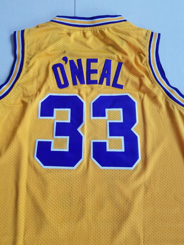 Shaquille O'Neal 33 LSU College Yellow Basketball Jersey