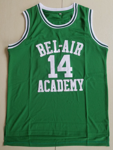 The Fresh Prince of Bel-Air Will Smith Bel-Air Academy Green Basketball Jersey