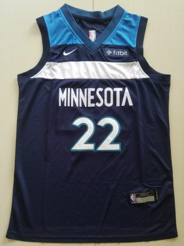 Youth Minnesota Timberwolves Andrew Wiggins 22 Basketball Club Player Jersey