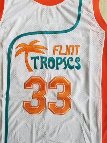 Flint Tropics 33 Jackie Moon Teal Basketball Jersey Semi Pro Team New