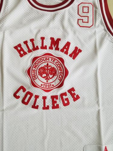 Dwayne Wayne 9 Hillman College Theater White Basketball Jersey A Different World