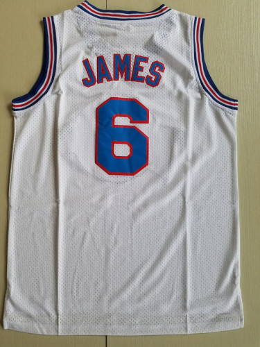 LeBron James 6 Movie Edition White Basketball Jersey