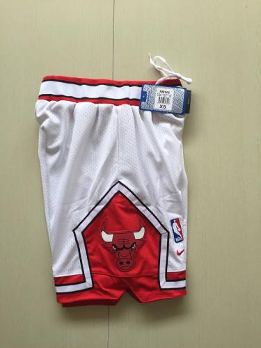 Youth Chicago Bulls Basketball Club White Shorts