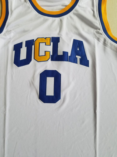 Russell Westbrook 0 UCLA College White Basketball Jersey