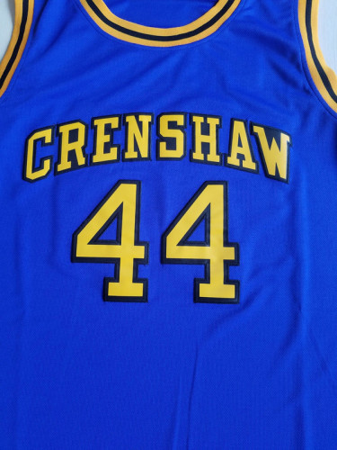 Bryant 44 Crenshaw High School Blue Basketball Jersey