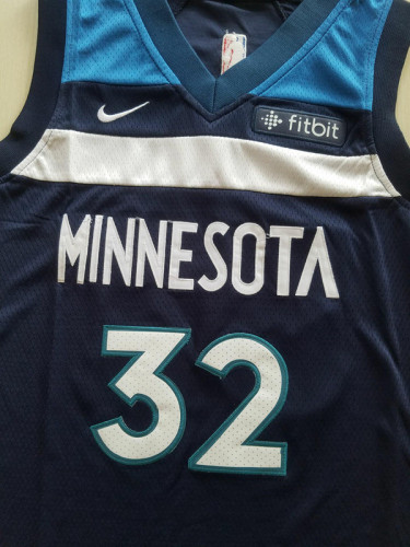 Youth Minnesota Timberwolves Karl-Anthony Towns 32 Basketball Club Player Jersey