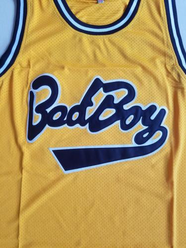 Notorious B.I.G. Biggie Smalls 72 Bad Boy Yellow Basketball Jersey