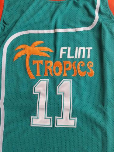 Flint Tropics 11 Ed Monix Basketball Jersey Semi Pro Team