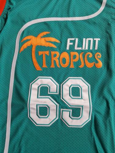 Downtown Funky Stuff Malone Flint Tropics Semi Pro Team Basketball Jersey New
