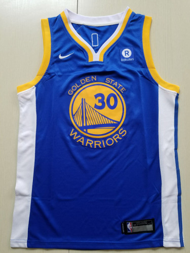 Youth Golden State Warriors Stephen Curry 30 Basketball Club Player Jersey