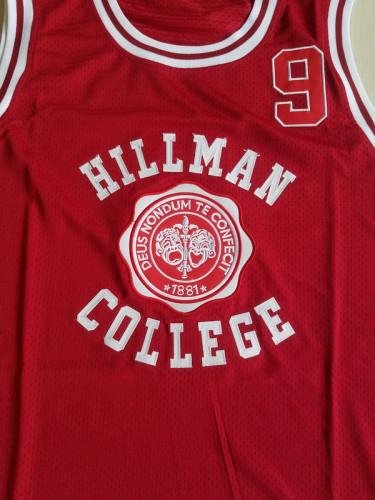 Dwayne Wayne 9 Hillman College Theater Maroon Basketball Jersey A Different World