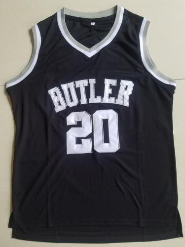 Gordon Hayward 20 Butler College Black Basketball Jersey