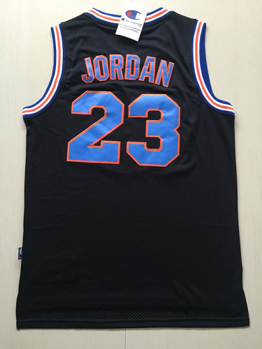 Michael Jordan 23 Movie Edition Black Basketball Jersey