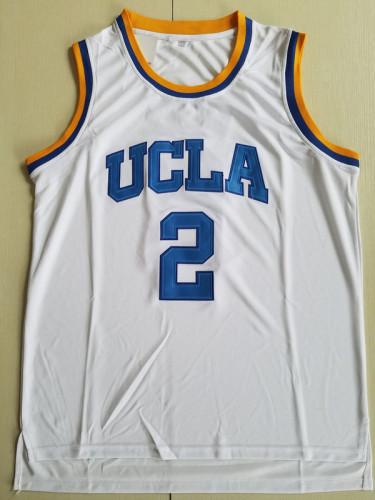 Lonzo Ball 2 UCLA College White Basketball Jersey