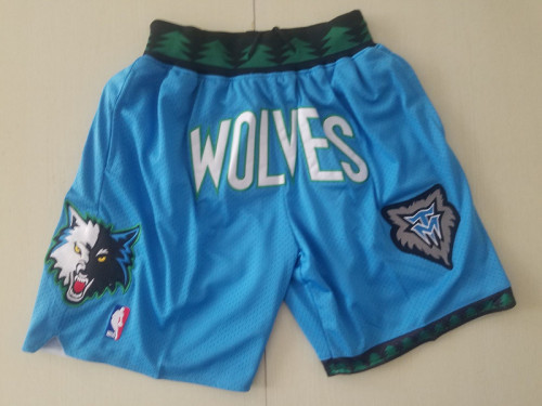 Minnesota Timberwolves 2003-04 Throwback Classics Basketball Team Shorts