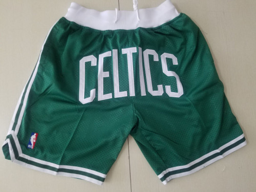 Boston Celtics J*D Basketball Team Shorts