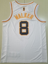 Boston Celtics Kemba Walker 8 White Golden Edition Jersey