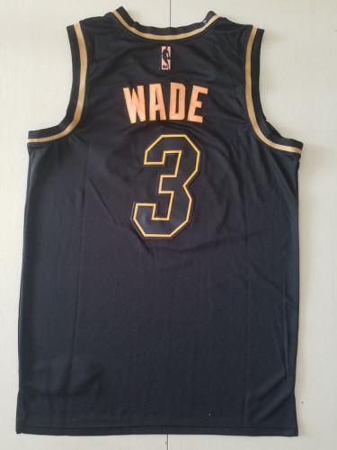 Miami Heat Dwyane Wade 3 Black Golden Edition Jersey