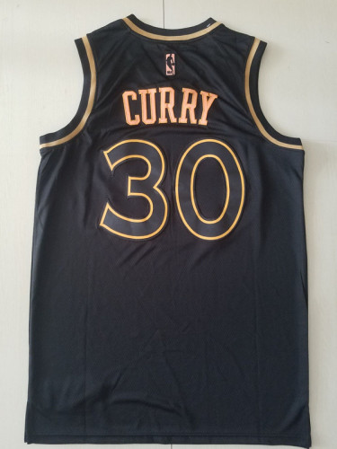 Golden State Warriors Stephen Curry 30 Black Golden Edition Jersey