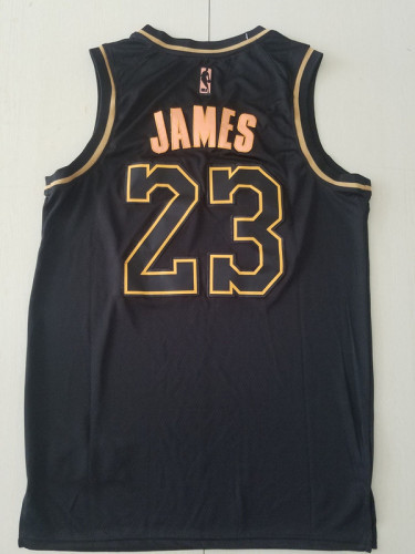 Los Angeles Lakers LeBron James 23 Black Golden Edition Jersey