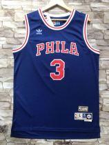 Philadelphia 76ers Allen Iverson 3 Throwback Classics Jerseys