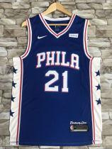 Philadelphia 76ers Joel Embiid 21 Brotherly Love Retro Classics Jersey