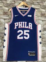 Philadelphia 76ers Ben Simmons 25 Brotherly Love Retro Classics Jersey