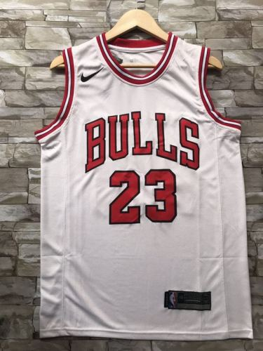 Chicago Bulls Michael Jordan 23 White Throwback Classics Jerseys