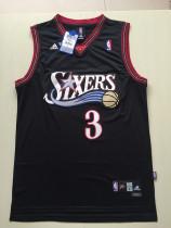 Philadelphia 76ers Allen Iverson 3 Black Retro Classics Jersey