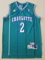 Charlotte Hornets Larry Johnson 2 Throwback Classics Jersey