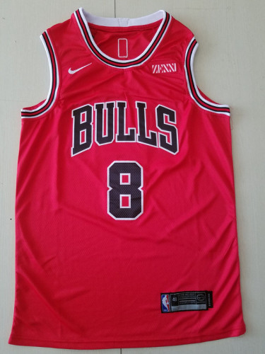 Chicago Bulls Zach LaVine 8 Red Basketball Club Player Jersey