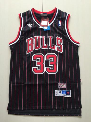 Chicago Bulls Scottie Pippen 33 Black Retro Classics Basketball Jersey